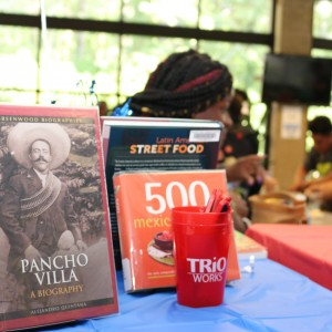 Book about Pancho Villa displayed.